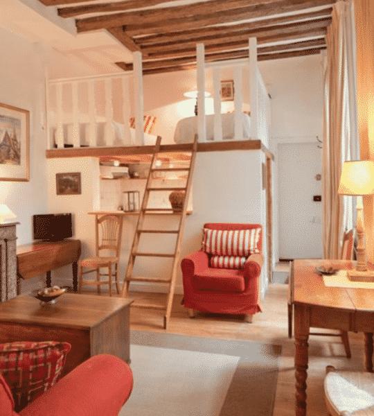 One Bedroom (plus Loft) Apartment For Sale In Paris' 6th